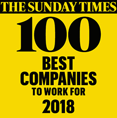 The Sunday Times 100 Best Companies to work for 2018