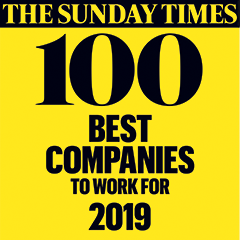 The Sunday Times 100 Best Companies to work for 2019